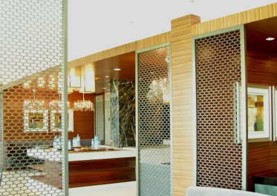 DECORATIVE FRET CUT ALUMINIUM SCREENS TO ALL DAY DINING @ CROWNE PLAZA HOTEL DFC