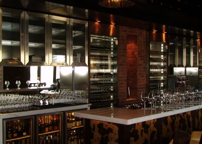 RAFFLES HOTEL, DUBAI - FIRE & ICE RESTAURANT WINE BACK BAR UNIT